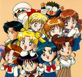 Sailor Moon and the gang!